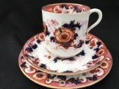 Cauldon Imari coffee cup. saucer and plate